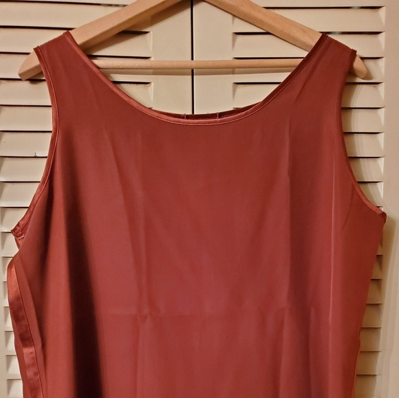 Liz Claiborne New York Plus Size Top Printed Sleeveless Tunic Red Size 14